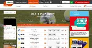 PMU paris sportif foot