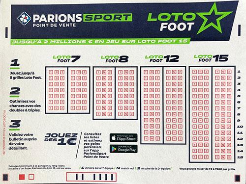 Guide ultime du loto foot 15 pronostic !